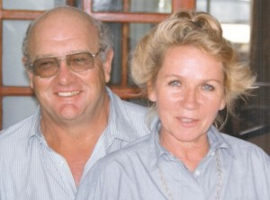 The late Trevor Armitage and his wife Minou